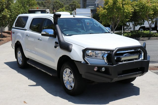 Used Ford Ranger PX MkII XLT Double Cab Robina, 2016 Ford Ranger PX MkII XLT Double Cab White 6 speed Automatic Utility