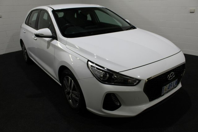 Used Hyundai i30 PD2 MY19 Active Glenorchy, 2019 Hyundai i30 PD2 MY19 Active Polar White 6 Speed Sports Automatic Hatchback