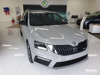 2019 Skoda Octavia NE MY20 RS 245 Steel Grey 7 Speed Auto Direct Shift Wagon.