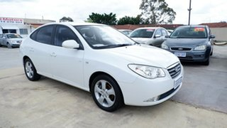2009 Hyundai Elantra HD Elite White 4 Speed Automatic Sedan.
