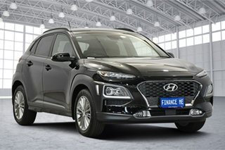 2018 Hyundai Kona OS MY18 Elite 2WD Black 6 Speed Sports Automatic Wagon.