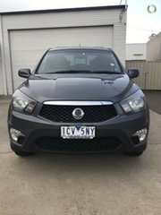 2014 Ssangyong Actyon Sports Q150 MY14 SX Grey 5 Speed Sports Automatic Utility.
