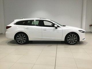 2019 Mazda 6 GL1033 Atenza SKYACTIV-Drive Snowflake White 6 Speed Sports Automatic Wagon.