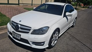 2013 Mercedes-Benz C-Class C204 MY13 C250 CDI 7G-Tronic White 7 Speed Sports Automatic Coupe.