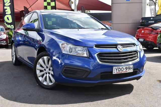 Used Holden Cruze JH Series II MY16 Equipe Tuggerah, 2016 Holden Cruze JH Series II MY16 Equipe Blue 6 Speed Sports Automatic Sedan