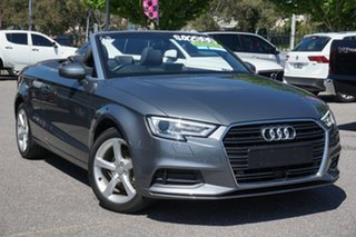 2016 Audi A3 8V MY17 S Tronic Grey 7 Speed Sports Automatic Dual Clutch Cabriolet.