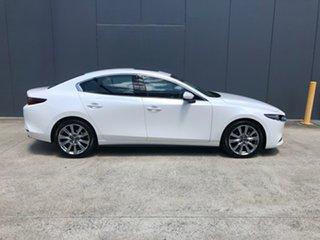 2020 Mazda 3 BP2SLA G25 SKYACTIV-Drive Astina Snowflake White 6 Speed Sports Automatic Sedan.
