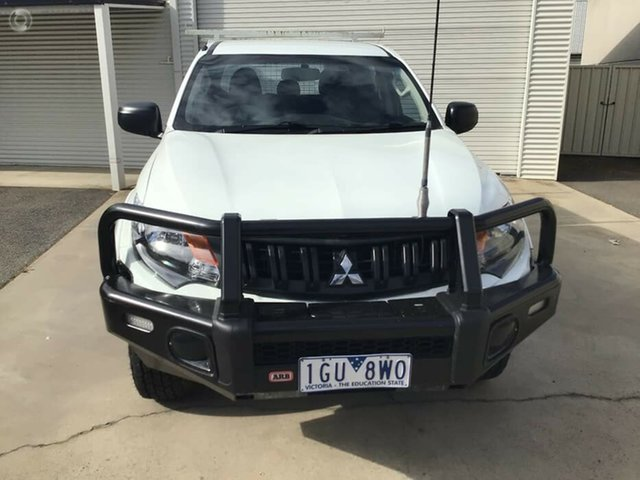 Used Mitsubishi Triton MQ MY16 GLX Double Cab 4x2 Bendigo, 2016 Mitsubishi Triton MQ MY16 GLX Double Cab 4x2 White 6 Speed Manual Utility