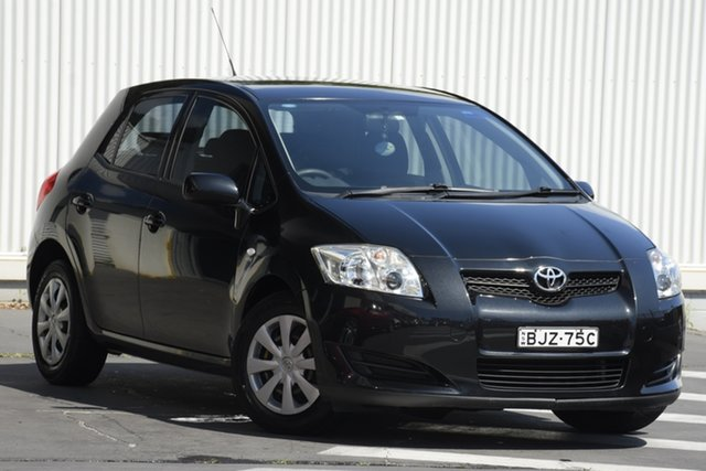 Used Toyota Corolla ZRE152R Ascent Wollongong, 2009 Toyota Corolla ZRE152R Ascent Black 4 Speed Automatic Hatchback