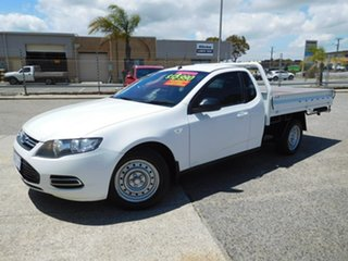 2014 Ford Falcon FG MkII Super Cab White 6 Speed Sports Automatic Cab Chassis.