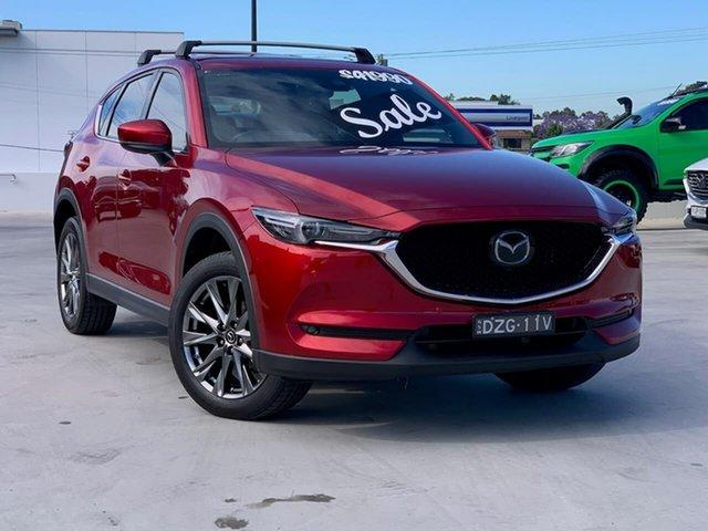 Used Mazda CX-5 KF4WLA Akera SKYACTIV-Drive i-ACTIV AWD Liverpool, 2018 Mazda CX-5 KF4WLA Akera SKYACTIV-Drive i-ACTIV AWD Red 6 Speed Sports Automatic Wagon