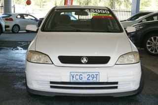 2001 Holden Astra TS City White 5 Speed Manual Hatchback.