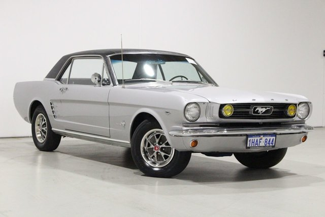 Used Ford Mustang Bentley, 1966 Ford Mustang Silver 3 Speed Automatic Hardtop