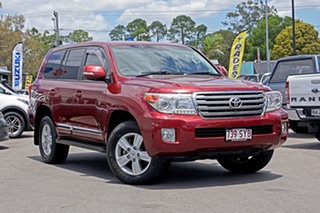2013 Toyota Landcruiser VDJ200R MY13 Sahara Red 6 Speed Sports Automatic Wagon.