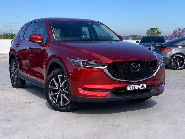 Used Mazda CX-5 KF4WLA Akera SKYACTIV-Drive i-ACTIV AWD Liverpool, 2017 Mazda CX-5 KF4WLA Akera SKYACTIV-Drive i-ACTIV AWD Red 6 Speed Sports Automatic Wagon