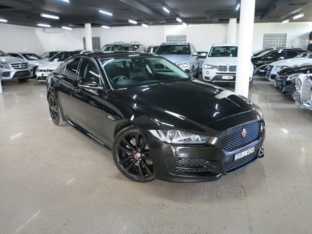 Used Jaguar XE X760 MY17 R-Sport Albion, 2017 Jaguar XE X760 MY17 R-Sport Black 8 Speed Sports Automatic Sedan