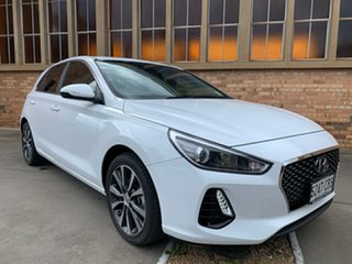 2019 Hyundai i30 PD2 MY20 Elite Polar White 6 Speed Sports Automatic Hatchback.