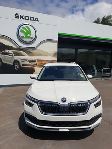 Demo Skoda Kamiq NW MY20.5 85TSI DSG FWD Hamilton, 2020 Skoda Kamiq NW MY20.5 85TSI DSG FWD Candy White 7 Speed Sports Automatic Dual Clutch Wagon