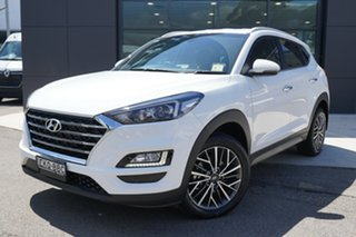 2020 Hyundai Tucson ELITE Elite AWD Pure White 8 Speed Sports Automatic Wagon.