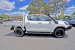 2017 Toyota Hilux GUN126R SR Double Cab White 6 Speed Sports Automatic Cab Chassis