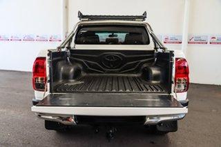2016 Toyota Hilux GUN126R SR5 (4x4) Glacier White 6 Speed Manual Dual Cab Utility