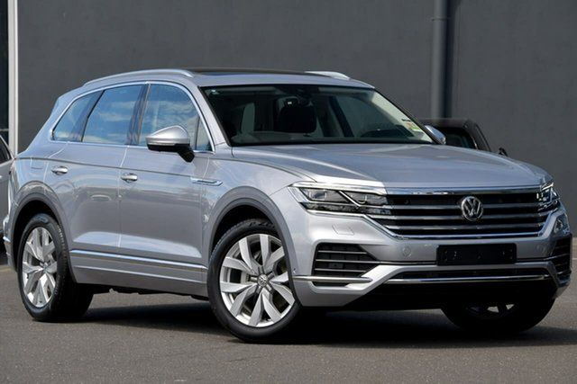 Demo Volkswagen Touareg CR MY20 190TDI Tiptronic 4MOTION Premium Moorabbin, 2020 Volkswagen Touareg CR MY20 190TDI Tiptronic 4MOTION Premium Silver 8 Speed Sports Automatic
