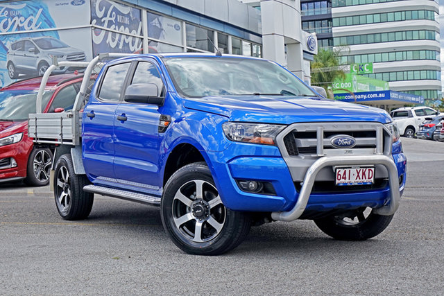 Used Ford Ranger PX MkII XLS Double Cab Springwood, 2017 Ford Ranger PX MkII XLS Double Cab Blue 6 Speed Sports Automatic Utility