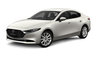 2020 Mazda 3 BP2S7A G20 SKYACTIV-Drive Touring Snowflake White Pearl 6 Speed Sports Automatic Sedan.