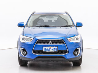 2016 Mitsubishi ASX XC MY17 LS (2WD) Blue Continuous Variable Wagon.