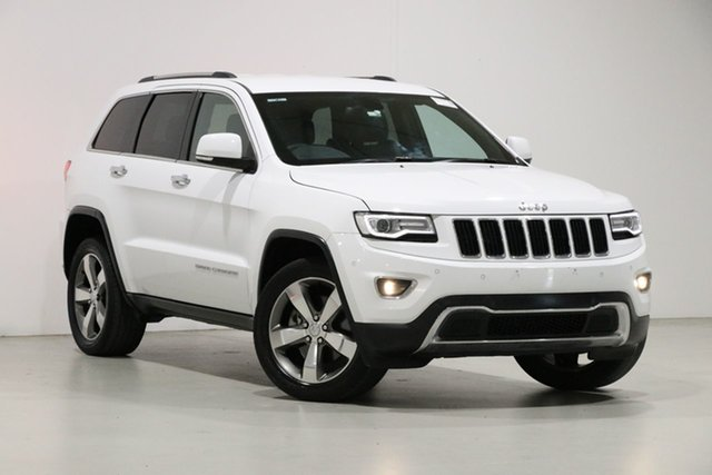 Used Jeep Grand Cherokee WK MY15 Limited (4x4) Bentley, 2015 Jeep Grand Cherokee WK MY15 Limited (4x4) White 8 Speed Automatic Wagon