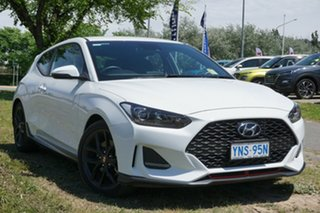 2019 Hyundai Veloster JS MY20 Turbo Coupe D-CT Chalk White 7 Speed Sports Automatic Dual Clutch.