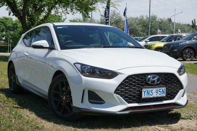 Demo Hyundai Veloster JS MY20 Turbo Coupe D-CT Phillip, 2019 Hyundai Veloster JS MY20 Turbo Coupe D-CT Chalk White 7 Speed Sports Automatic Dual Clutch