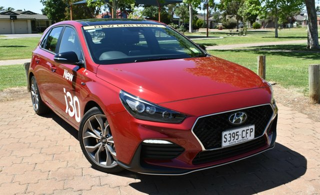 Demo Hyundai i30 PD.V4 MY21 N Line D-CT Premium Ingle Farm, 2020 Hyundai i30 PD.V4 MY21 N Line D-CT Premium Fiery Red 7 Speed Sports Automatic Dual Clutch
