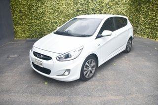 2013 Hyundai Accent RB3 SR White 6 Speed Sports Automatic Hatchback
