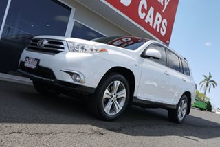 2011 Toyota Kluger GSU40R MY11 KX-S 2WD White 5 Speed Sports Automatic Wagon.