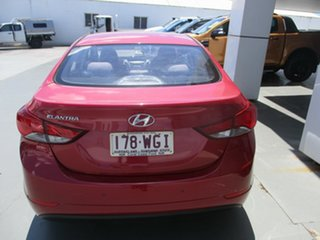 2014 Hyundai Elantra MD Series 2 (MD3) Active Red 6 Speed Automatic Sedan.