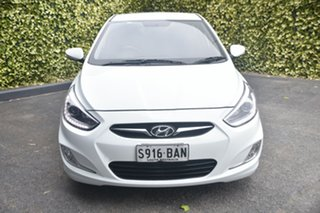 2013 Hyundai Accent RB3 SR White 6 Speed Sports Automatic Hatchback.