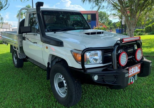 Used Toyota Landcruiser VDJ79R Workmate Winnellie, 2017 Toyota Landcruiser VDJ79R Workmate White 5 Speed Manual Cab Chassis