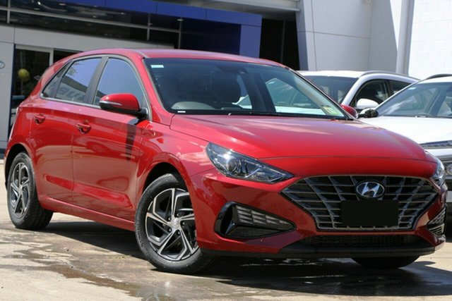 New Hyundai i30 PD.V4 MY21 Nunawading, 2021 Hyundai i30 PD.V4 MY21 Fiery Red 6 Speed Sports Automatic Hatchback