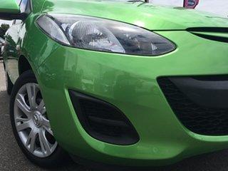 2011 Mazda 2 DE10Y1 MY10 Neo Green 5 Speed Manual Hatchback.