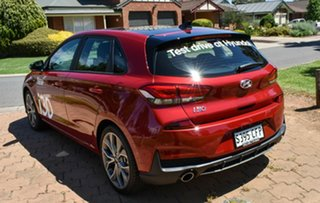 2020 Hyundai i30 PD.V4 MY21 N Line D-CT Premium Fiery Red 7 Speed Sports Automatic Dual Clutch