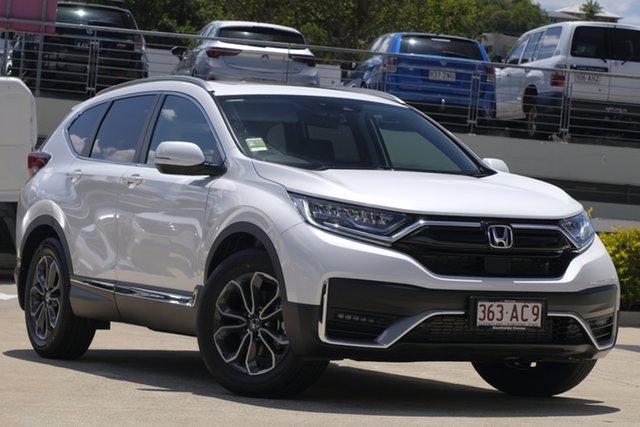 Demo Honda CR-V RW MY21 VTi FWD L7 Mount Gravatt, 2020 Honda CR-V RW MY21 VTi FWD L7 Platinum White 1 Speed Constant Variable Wagon