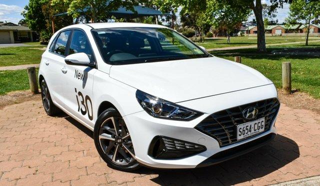 Demo Hyundai i30 PD.V4 MY21 Active Ingle Farm, 2020 Hyundai i30 PD.V4 MY21 Active Polar White 6 Speed Sports Automatic Hatchback