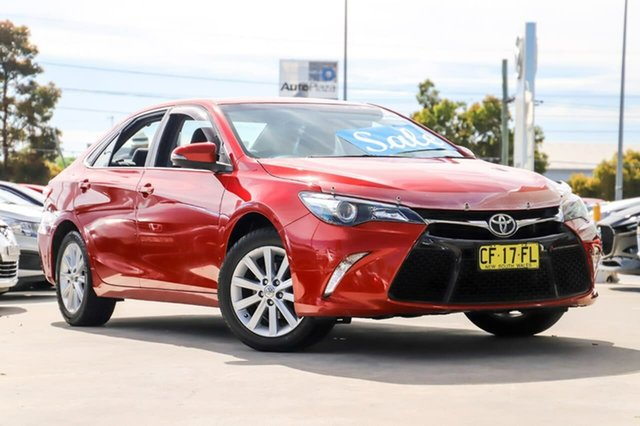 Used Toyota Camry ASV50R Atara S Kirrawee, 2015 Toyota Camry ASV50R Atara S Red 6 Speed Sports Automatic Sedan