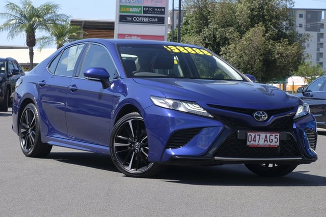 Pre-Owned Toyota Camry ASV70R SX Upper Mount Gravatt, 2019 Toyota Camry ASV70R SX Lunar Blue 6 Speed Sports Automatic Sedan