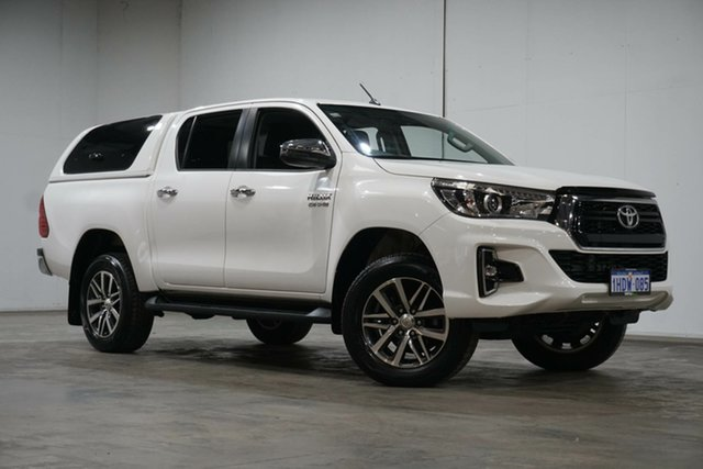 Used Toyota Hilux GUN126R SR5 Double Cab Welshpool, 2019 Toyota Hilux GUN126R SR5 Double Cab Glacier White 6 Speed Sports Automatic Utility