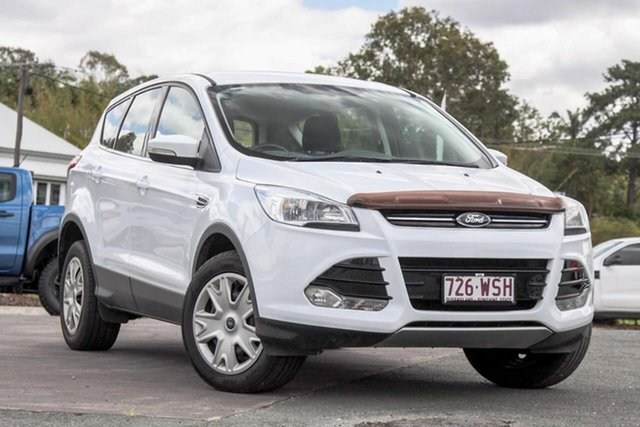Used Ford Kuga TF MY15 Ambiente AWD Gympie, 2014 Ford Kuga TF MY15 Ambiente AWD White 6 Speed Sports Automatic Wagon