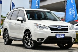 2013 Subaru Forester S4 MY14 2.5i-S Lineartronic AWD Satin White Pearl 6 Speed Constant Variable.