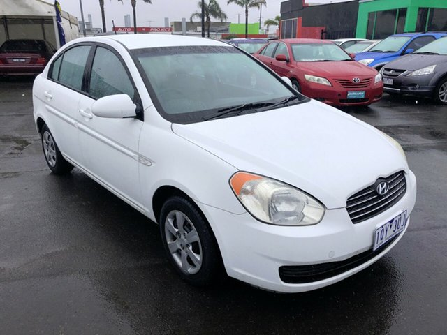 Used Hyundai Accent MC 1.6 Cheltenham, 2007 Hyundai Accent MC 1.6 White 5 Speed Manual Sedan