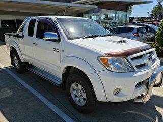 2006 Toyota Hilux KUN26R MY07 SR5 Xtra Cab White 5 Speed Manual Utility.